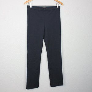 Elie Tahari Dark Blue Stretchy Straight Leg Pants